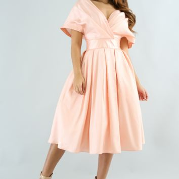 Prom Charm Blush Flowy Maxi Dress