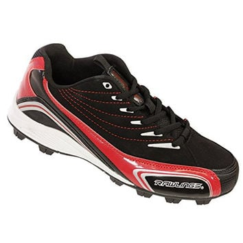 Rawlings Base Invader Low 2 Baseball Cleats Black & Red Mens 7.5 M