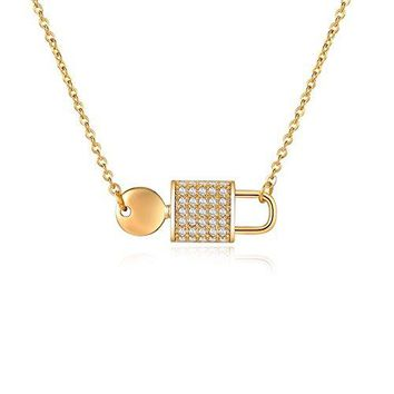 Love Lock Necklace - Lock Inspired Necklaces With Cubic Zirconia For Women