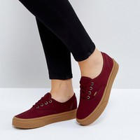 Vans Authentic Sneakers In Burgundy at asos.com