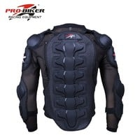 Trendy Pro-Biker motorcycle protective armor gear Jacket Full Body Armor cloth Motocross Turtle back protection Motorcycle Jackets AT_94_13