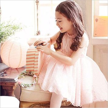 New Summer Costume Girls Princess Dress Children's Evening Clothing Kids Chiffon Lace Dresses Baby Girl Party Sequin Dress