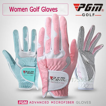 PGM Golf Gloves Women's Sport Gloves Left Hand & Right Hand Nanometer Cloth Golf Breathable Palm Protection