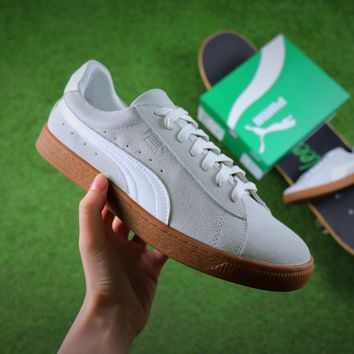 Best Online Sale Puma Suede Classic Basket White Suede Shoes Sneaker 365054-09