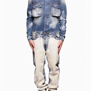 Carpenter jumpsuit from the S/S2016 Off-White c/o Virgil Abloh in blue
