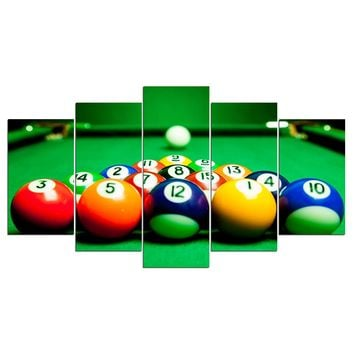 Billiards Pool Table Ball Canvas Wall Art Panel Print Wall Pictures Room Decor