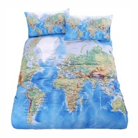 STYLEDOME World Map Bedding Sets