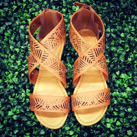 Isle of Sun Tan Strappy Cutout Sandal