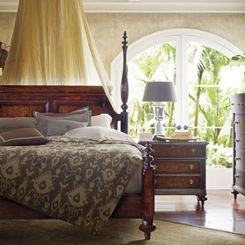 Stanley Furniture British Colonial Poster Bed in Caribe 020-13-4