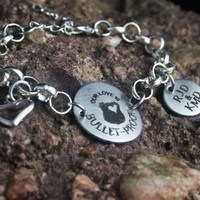 Personalized Policeman's Girlfriend Wife Bracelet - Policeman's Wife Bracelet - Policeman's Jewelry - Personalized Engraved Jewely