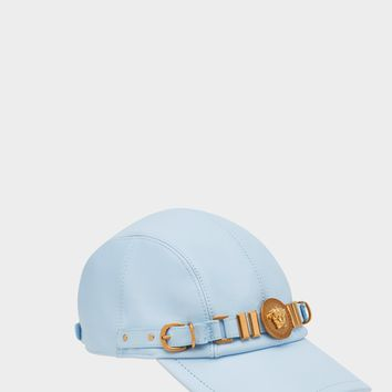 Versace Nappa Leather Medusa Tribute Cap for Women | US Online Store