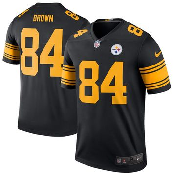 Men's Pittsburgh Steelers Antonio Brown Nike Black Color Rush Legend Jersey