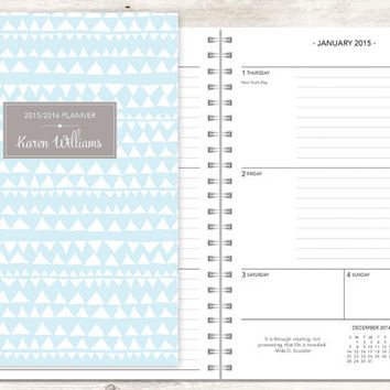 2015 planner | 2015-2016 calendar | from posypaper on Etsy