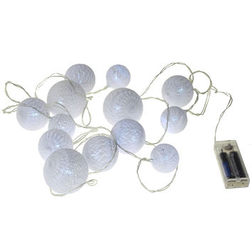 LED String Ball Lights, 9-Feet