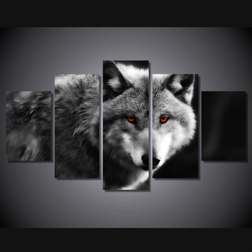 Wolf Spirit 5-Piece Wall Art Canvas