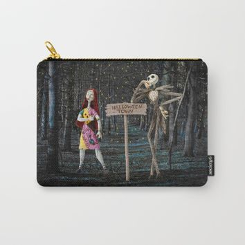 Halloween Town | Jack | Sally | Christmas | Nightmare Carry-All Pouch by Azima