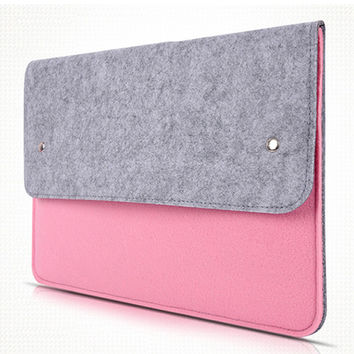11.6 13.3 15.4 15.6 Wool Felt Laptop Sleeve Pouch Case for Macbook Air Pro Retina Ultra Slim Notebook Computer Bag Cover Case
