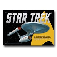 Star Trek Enterprise Tin Sign