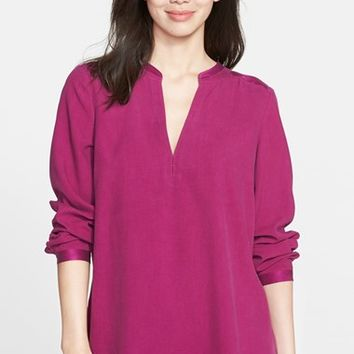 Women's Nexx Split Neck Silk Blouse