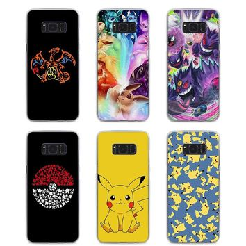 MOUGOL cartoon s eevee pika Style hard Clear Phone Case for Samsung S9 S9Plus S8 S8Plus S6 S7 edge S5 Note8 5 4Kawaii Pokemon go  AT_89_9
