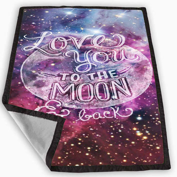 I Love You to The Moon and Back Blanket for Kids Blanket, Fleece Blanket Cute and Awesome Blanket for your bedding, Blanket fleece **