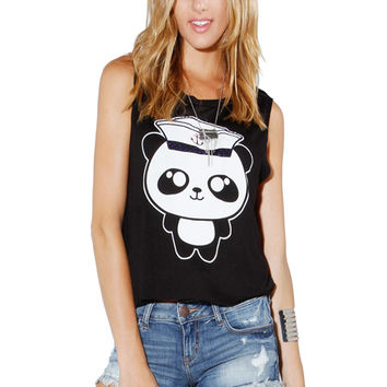 Papaya Clothing Online :: PANDA GRAPHIC TOP