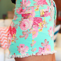 Mint In Bloom Shorts