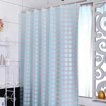 Europe Peva Shower Curtain Waterproof Mold Proof Eco-Friendly Blue Endless Bath Curtain Hot Bathroom Products