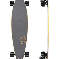 "Z-Flex Top Shelf 38"" Black & Gold Pintail Longboard Complete 