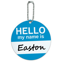Easton Hello My Name Is Round ID Card Luggage Tag