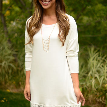 On The Edge Dress - Ivory