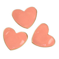 Tiny Ceramic Heart Dish Coral