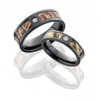 His & Her Camo Wedding Bands | Camo Wedding Rings -Free Shipping