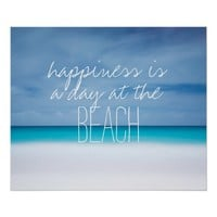Happiness is a day at the beach ocean photo hipste