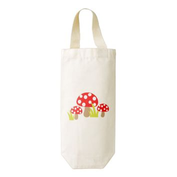 Mushrooms Wine Bag