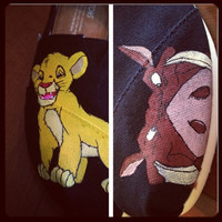 Lion King Inspired Custom Painted TOMS