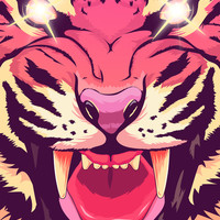 Cool angry tiger Art Print by Oh wow! | Society6