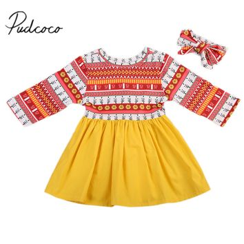 Pudcoco 2017 Flower Baby Girl Princess Dress Toddler Wedding Fancy Party Tutu Dresses Costume Clothes 0-24M