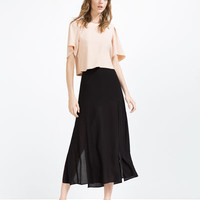 CROPPED TOP WITH PLEAT DETAIL - View All-TOPS-WOMAN | ZARA United States