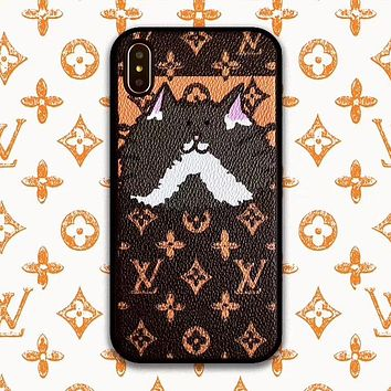 LV Louis Vuitton Newest Popular Couple Christmas Cat Pattern Mobile Phone For iPhone Phone Cover Case For iphone 6 6s 6plus 6s-plus 7 7plus iPhone 8 8 Plus iPhone X iPhone XsMax