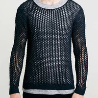 Black Textured Mesh Jumper - New This Week - New In