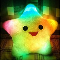 multi color Romantic star starfish Shaped Super soft throw pillow LED Light Up