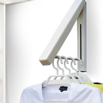 Stainless Mount Clothes Indoor Folding Wall Hangers