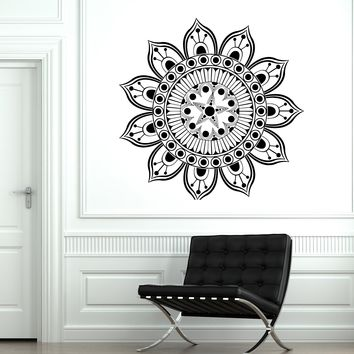 Vinyl Decal Ornament Circle Mandala Meditation Relaxation Yoga Studio Art Unique Gift (n879)