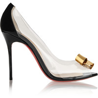 Christian Louboutin - Justinodo 100 embellished PVC and patent-leather pumps