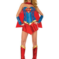 Supergirl Superwoman Superhero Superheroes Costume Super Girl Adult Women Ladies Halloween Costume Cosplay Disfraces Alternative Measures