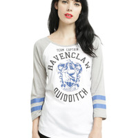 Harry Potter Ravenclaw Quidditch Team Captain Girls Raglan