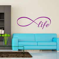 Infinity Symbol Wall Decal Bedroom Vinyl Decals Bedroom Home Decor Life Infinity Loop Wall Quote Vinyl Lettering V962