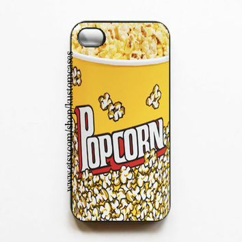iPhone 4 4s Popcorn Hard iPhone Case Available in Black or White