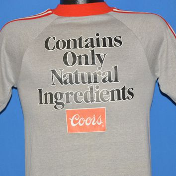 70s Coors Contains Only Natural Ingredients t-shirt Extra Small